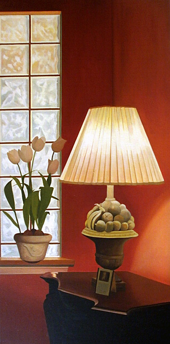 Lamp and Tulips
