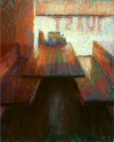Sandra Burshell-A BOOTH BY THE WINDOW 15.625x12.875 web
